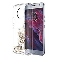 お買い得  携帯電話ケース-ケース 用途 Motorola E4 Plus パターン バックカバー 食べ物 ソフト TPU のために Moto X4 Moto E4 Plus Moto E4