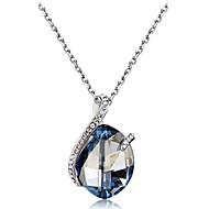 abordables Plata de ley-Mujer Cristal / Zirconia Cúbica Collares con colgantes - Cristal, Zirconio, Plateado Clásico Azul Claro Gargantillas Para Fiesta, Fiesta de baile