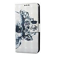 Недорогие Чехлы и кейсы для Galaxy А-Кейс для Назначение SSamsung Galaxy A8 2018 A8 Plus 2018 Бумажник для карт Кошелек со стендом Флип Магнитный С узором Чехол Черепа Твердый