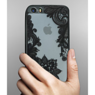 Недорогие Кейсы для iPhone 8 Plus-Кейс для Назначение Apple iPhone X iPhone 8 Кейс для iPhone 5 iPhone 6 iPhone 6 Plus Прозрачный С узором Кейс на заднюю панель Кружева