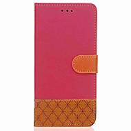 Недорогие Чехлы и кейсы для Galaxy Note-Кейс для Назначение SSamsung Galaxy Note 8 / Note 5 Кошелек / Бумажник для карт / со стендом Чехол Геометрический рисунок Твердый текстильный для Note 8 / Note 5 / Note 4