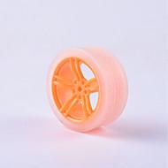 お買い得  Arduino 用アクセサリー-カニ王国®ディー教育車パーツ車輪タイヤモータータイヤ1個オレンジ色透明#4