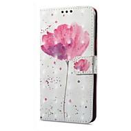 preiswerte Handyhüllen-Hülle Für Vivo X20 Plus X20 Kreditkartenfächer Geldbeutel mit Halterung Flipbare Hülle Magnetisch Muster Ganzkörper-Gehäuse Blume Hart