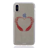 Недорогие Кейсы для iPhone 8 Plus-Кейс для Назначение Apple iPhone X iPhone 8 Защита от удара Ультратонкий С узором Кейс на заднюю панель  Перья Мягкий ТПУ для iPhone X