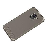 Недорогие Чехлы и кейсы для Galaxy A5(2017)-Кейс для Назначение SSamsung Galaxy A8 2018 A8 Plus 2018 Ультратонкий Сплошной цвет Мягкий для