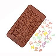 お買い得  キッチン用小物-英語のアルファベットのシリコーンケーキの金型DIYのチョコレート金型キャンデーのベーキングツール