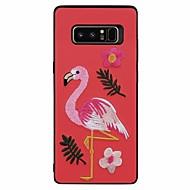Недорогие Чехлы и кейсы для Galaxy Note 8-Кейс для Назначение SSamsung Galaxy Note 8 С узором Фламинго Животное Мягкий для