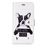 Недорогие Кейсы для iPhone 8 Plus-Кейс для Назначение Apple iPhone X iPhone 8 Бумажник для карт Кошелек Флип Магнитный С узором Чехол С собакой Слова / выражения Твердый