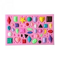 케이크 주형 케이크 초콜릿에 대한 케이크에 대한 쿠키에 대한 사탕을위한 실리카 젤 베이킹 도구 생일 발렌타인 데이 추수감사절 DIY