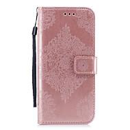 Недорогие Чехлы и кейсы для Galaxy S7 Edge-Кейс для Назначение SSamsung Galaxy S8 Plus S8 Бумажник для карт Кошелек со стендом С узором Рельефный Чехол Сплошной цвет Мандала Твердый