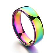 abordables Anillos-Hombre Colorido Anillo de banda - Forma de Círculo Arco iris Casual Colorido Champaña anillo Para Diario Formal