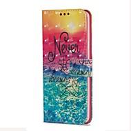 Недорогие Чехлы и кейсы для Galaxy S-Кейс для Назначение SSamsung Galaxy S9 S9 Plus Бумажник для карт Кошелек со стендом Флип Магнитный С узором Пейзаж Твердый для