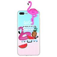 Недорогие Кейсы для iPhone 8 Plus-Кейс для Назначение Apple iPhone 7 iPhone 6 С узором Своими руками Задняя крышка Фламинго Животное 3D в мультяшном стиле Мягкий TPU для
