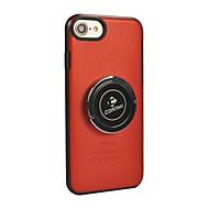 Недорогие Кейсы для iPhone 8-Кейс для Назначение Apple iPhone X iPhone 8 Кольца-держатели Сплошной цвет Твердый для