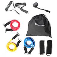 お買い得  -KYLINSPORT エクササイズバンドセット と 携帯用ケース / 足首ストラップ / ドアアンカー 9 pcs ゴム 筋力トレーニング, 懸垂, 理学療法 ために ヨガ / ピラティス / エクササイズ&フィットネス 家 / オフィス