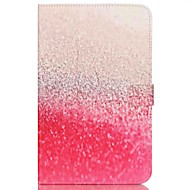 Недорогие Чехлы и кейсы для Galaxy Tab E 9.6-Кейс для Назначение Samsung Tab E 9.6 Бумажник для карт Кошелек со стендом С узором Авто Режим сна / Пробуждение Чехол Пейзаж Твердый