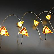 abordables Tiras de Luces LED-2 M Cuerdas de Luces 20 LED Luz de cadena de 2 m Blanco Cálido 1 juego