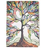 Недорогие Чехлы и кейсы для Samsung Tab-Кейс для Назначение SSamsung Galaxy Tab S2 8.0 Бумажник для карт со стендом Флип С узором Авто Режим сна / Пробуждение Чехол дерево