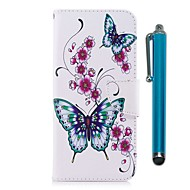 Недорогие Чехлы и кейсы для Galaxy Note-Кейс для Назначение SSamsung Galaxy Note 8 Бумажник для карт Кошелек со стендом Флип Магнитный Чехол Бабочка Твердый Кожа PU для Note 8