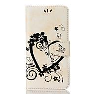 Недорогие Чехлы и кейсы для Galaxy S7-Кейс для Назначение Samsung S7 edge S7 Бумажник для карт Кошелек со стендом Флип С узором Чехол С сердцем Твердый Кожа PU для S7 edge S7