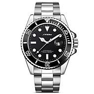Недорогие Фирменные часы-SINOBI Муж. Наручные часы Японский Календарь / Ударопрочный / Cool Металл / Нержавеющая сталь Группа Роскошь / Винтаж / Мода Серебристый металл / Крупный циферблат / Два года / Sony SR626SW