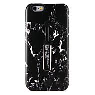 Недорогие Кейсы для iPhone 8-Кейс для Назначение Apple iPhone X iPhone 8 со стендом С узором Кейс на заднюю панель Мрамор Твердый ПК для iPhone X iPhone 8 Pluss