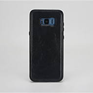 Недорогие Чехлы и кейсы для Galaxy S7-Кейс для Назначение Samsung S8 S7 удобный Кейс на заднюю панель Сплошной цвет Твердый Кожа PU для S8 Plus S8 S7 edge S7 S6 edge S6