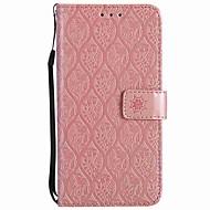 Недорогие Чехлы и кейсы для Huawei Honor-Кейс для Назначение Huawei Honor 9 Бумажник для карт Кошелек Защита от удара Кольца-держатели Флип Чехол Сплошной цвет Твердый Кожа PU для
