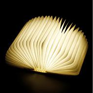 abordables Lámparas LED Novedosas-1pc Libro Luz de noche LED RGB Batería de Li-batería incorporada Plegable Recargable Luz decorativa Con puerto USB Fácil de Transportar