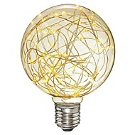 cheap LED Filament Bulbs-1pc 3W 300lm lm E26/E27 LED Filament Bulbs G95 33pcs leds SMD Starry Decorative LED Light Warm White 85-265V