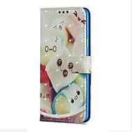 Недорогие Чехлы и кейсы для Galaxy S9 Plus-Кейс для Назначение SSamsung Galaxy S9 S9 Plus Бумажник для карт Кошелек со стендом Флип Магнитный Чехол Продукты питания Твердый Кожа PU