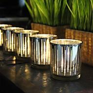 お買い得  インテリア用品-シンプルなスタイル / コンテンポラリー ガラス キャンドルホルダー 1個, キャンドル / キャンドルホルダー