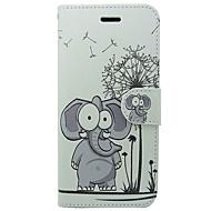 Недорогие Кейсы для iPhone 8-Кейс для Назначение Apple iPhone X iPhone 8 iPhone 8 Plus Бумажник для карт Кошелек со стендом Флип Чехол Слон Мультипликация Твердый