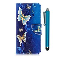 Case For Samsung A8 2018 / A5(2017) Wallet / Card Holder / with Stand Full Body Cases Butterfly Hard PU Leather / TPU for A3(2017) / A5(2017) / A8 2018