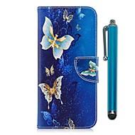 Недорогие Чехлы и кейсы для Galaxy A5(2016)-Кейс для Назначение Samsung A8 2018 / A5(2017) Кошелек / Бумажник для карт / со стендом Чехол Бабочка Твердый Кожа PU / ТПУ для A3 (2017) / A5 (2017) / A8 2018