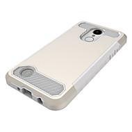 お買い得  携帯電話ケース-ケース 用途 LG V30 / StyLo 3 耐衝撃 バックカバー ソリッド ハード PC のために LG V30 / LG StyLo 3 / LG K10(2017)