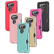 お買い得  携帯電話ケース-ケース 用途 LG V20 カードホルダー / 耐衝撃 バックカバー ソリッド ハード PC のために LG V20 / LG V10