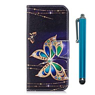 cheap Galaxy J Series Cases / Covers-Case For Samsung Galaxy J7 (2017) J5 (2017) Card Holder Wallet with Stand Flip Magnetic Full Body Cases Butterfly Hard PU Leather for J7