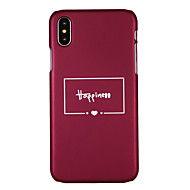 abordables Fundas para iPhone 8-Funda Para Apple iPhone X iPhone 8 Diseños Funda Trasera Palabra / Frase Dura ordenador personal para iPhone X iPhone 8 Plus iPhone 8