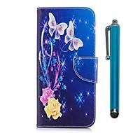 Недорогие Чехлы и кейсы для Galaxy Note 8-Кейс для Назначение SSamsung Galaxy Note 8 Бумажник для карт Кошелек со стендом Флип Магнитный Бабочка Твердый Кожа PU для Note 8