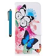 Недорогие Кейсы для iPhone 8 Plus-Кейс для Назначение Apple iPhone X iPhone 8 Plus Бумажник для карт Кошелек со стендом Флип Магнитный Чехол Бабочка Твердый Кожа PU для