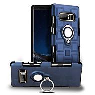 Недорогие Чехлы и кейсы для Galaxy Note 8-Кейс для Назначение SSamsung Galaxy Note 8 Защита от удара Кольца-держатели Поворот на 360° Кейс на заднюю панель Сплошной цвет Твердый ПК