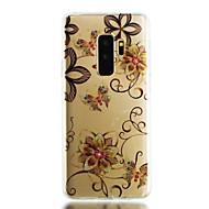Недорогие Чехлы и кейсы для Galaxy S8 Plus-Кейс для Назначение SSamsung Galaxy S9 Plus / S9 IMD / Прозрачный / С узором Кейс на заднюю панель Сияние и блеск / Цветы Мягкий ТПУ для S9 / S9 Plus / S8 Plus
