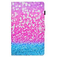 Недорогие Чехлы и кейсы для Samsung Tab-Кейс для Назначение SSamsung Galaxy Tab A 10.1 (2016) со стендом / С узором / Авто Режим сна / Пробуждение Чехол Мультипликация Твердый Кожа PU для Tab A 10.1 (2016)