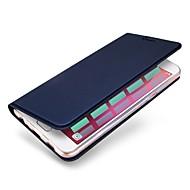Недорогие Чехлы и кейсы для Galaxy A7(2017)-Кейс для Назначение SSamsung Galaxy A8 2018 А5 (2018) Бумажник для карт со стендом Чехол Сплошной цвет Твердый Кожа PU для A5(2018)