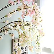abordables Flores Artificiales-Flores Artificiales 1 Rama Boda / Estilo europeo Sakura Flor de Pared