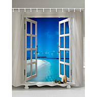 お買い得  浴室用小物-シャワーカーテン&フック コンテンポラリー ポリエステル ノベルティ柄 機械製 防水