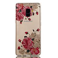 Недорогие Чехлы и кейсы для Galaxy A3(2017)-Кейс для Назначение SSamsung Galaxy A8 2018 A8 Plus 2018 IMD С узором Кейс на заднюю панель Цветы Сияние и блеск Мягкий ТПУ для A3 (2017)