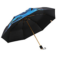 abordables Accesorios para la Lluvia-Tejido Hombre / Mujer Soleado y lluvioso / A prueba de Viento / nuevo Paraguas de Doblar