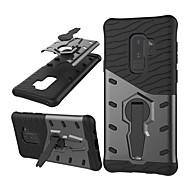 Недорогие Чехлы и кейсы для Galaxy S-Кейс для Назначение SSamsung Galaxy S9 Plus Защита от удара / со стендом / Поворот на 360° Кейс на заднюю панель броня Твердый ПК для S9 Plus